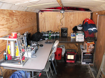 Interior of a Lindahl Marine Outage Support Trailer